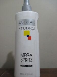 ONE LOREAL STUDIO MEGA SPRITZ MAX HOLD FINISHING SPRAY 8.5 OZ W/PUMP