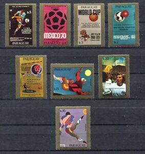 s5422) PARAGUAY 1978 MNH** WC Football - Coppa Mondo Calcio 8v