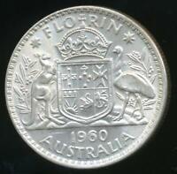 Australia, 1960 Florin, 2/-, Elizabeth II (Silver) - Uncirculated