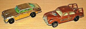 CORGI ROCKETS x2 - Aston Martin DB6 & Jaguar Pace Car - playworn