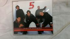 5 FIVE - WHEN THE LIGHTS GO OUT. CD SINGOLO 4 TRACKS