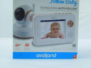 Availand Follow Baby Babyphone motorisierte Kamera Auto-Scan-Funktion Nachtsicht