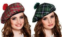 Chapeau ecosse deguisement tartan carre beret femme ecossais accessoire calot