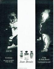 Publicité Advertising 067  1965  parfums Jean Dessès Gymkana  eau toilette