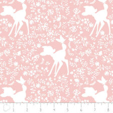 Camelot Disney Bambi Silhouette in Rose Quartz 100% cotton fabric by the yard