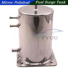 Universal Autos Mirror Polished Aluminium Alloy 2 Ltr Swirl Pot Fuel Surge Tank