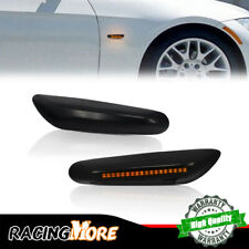 Front LED Side Marker Lights Lamps FOR 2004-up BMW 1 3 5 X Series Smoked Lens