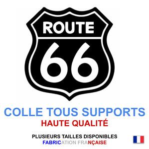 Stickers autocollant Route 66 noir USA, plusieurs tailles, super prix