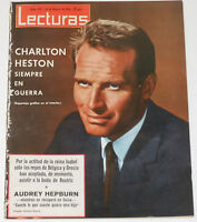 LECTURAS 1966 Charlton Heston Audrey Hepburn Marisol Sean Connery Grace Monaco