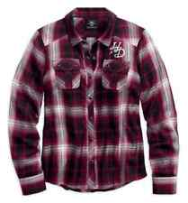 Harley Davidson Women's Rayon Plaid Long Sleeve Shirt, 96151-18VW, Size 2XL