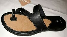 Womens BOC Born Laurina Toe Ring BLACK  Slip On Sandals Size 9 M Shoes NEW