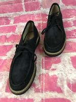 CLARKS Womens Artisan Glick Bayview Loafers Shoes Black Nubuck Size 7.5