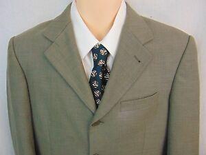 Giorgio Ferraro Mens Blazer Sportcoat Jacket Olive Green 38R Super 120's 4B