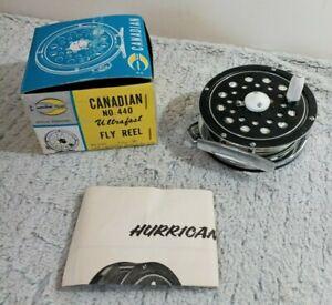 Vintage NIP Hurricane Olympic Canadian Fly Fishing Reel Model 440