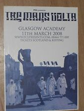 The Mars Volta - Glasgow march 2008 tour concert gig poster