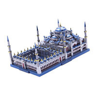 1:680 Scale Blue Mosque Statue Build 229 Pieces Kits Metalwork Collectibles