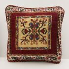Authentic Kilim Rug Vintage Hand Made Throw Pillow Case Cover AF08