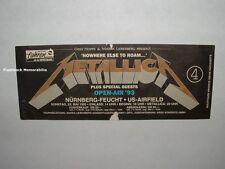 METALLICA 1993 Concert Ticket Stub NURNBERG-FEUCHT Germany U.S. AIRFIELD Rare
