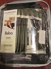 Reba~Harmony for the home Straight Valance 84� W x 18� L