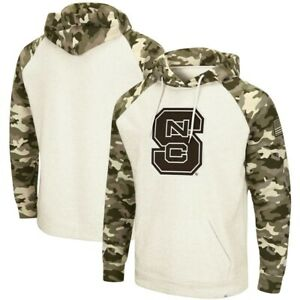 Men's NC State Wolfpack Colosseum Salute to Service Desert Camo Hoodie NWT Large