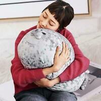 Kreative 3D Softt Chubby Blob Seal Plüsch Kissen Spielzeug Hause zu dekorie M8L5