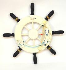 Wood Boat Ship Wheel Sealife Nautical Decoration Beach Home Wall Hanging Decor