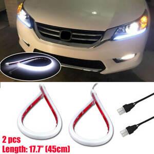 For Honda Accord 2013-2015 White LED DRL Headlight Strip light Lamp OEM Retrofit