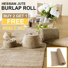 10M*35CM Hessian Jute Burlap Roll Vintage Wedding Decoration Table Runner New