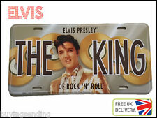 NEW OFFICIAL ELVIS PRESLEY LICENSE PLATE THE KING PRIVATE CAR NUMBER CAP SIGN