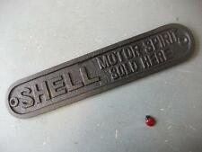Shell Sign MOTOR SPIRIT SOLD HERE  ~ CAST IRON ~  PLAQUE ~ car / garage