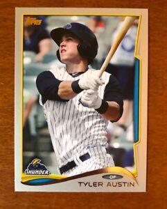 2014 Topps Pro Debut Silver #/25 Tyler Austin #26 Trenton Thunder