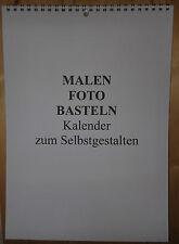 Fotokalender Bastelkalender Weis zum Selbstgestalten Größe A4 für jedes jahr