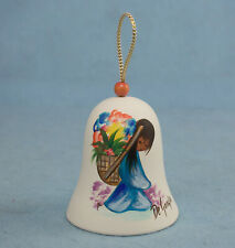 Vintage Ted DeGrazia Pottery Bell Girl w/Flowers Southwest