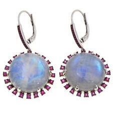 Sapphire Drop Earrings Hsn $659.90 Rarities Carol Brodie Moonstone Cabochon And