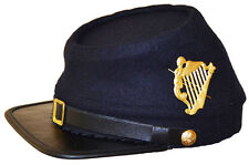 American Civil War Wool Union Irish Brigade Kepi Cap Hat & Badge 60/61cm XLARGE