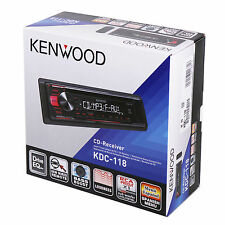 Kenwood KDC-118 In-Dash 1-DIN Front AUX CD/AM/FM Car Stereo Receiver