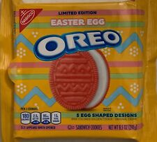 NEW LIMITED EDITION NABISCO EASTER EGG SHAPED OREO PINK COLOR COOKIES 8.5 Z PACK
