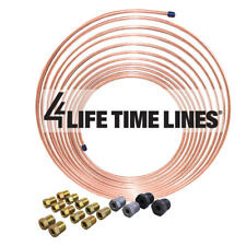 "25 ft 3/16"" Copper-Nickel Brake Line Kit (Includes 16 Fittings)"