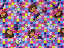 DORA ONE HIP EXPLORER BOOTS BEST FRIEND AMIGOS 2013 FABRIC LICENSED MATERIAL BTY