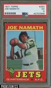 1971 Topps Football #250 Joe Namath New York Jets HOF PSA 5 EX