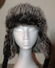 BNWOT Blue Knitted Furry Lined Trapper Hat
