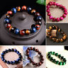 100% Natural AAA+ Gemstone Tigers Eye Stone Beads Woman Man Bracelet Jewelry