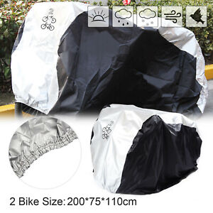 Double Bicycle Bike Cycle Cover Rust Waterproof Anti Rain UV Protection uk