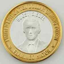 FLAMINGO HILTON, LAS VEGAS $10 TEN DOLLAR GAMING TOKEN .999 FINE SILVER COIN