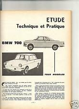 RTA REVUE TECHNIQUE 1964 / BMW 700 + SERVO FREIN GIRLING + SALON AUTO PARIS