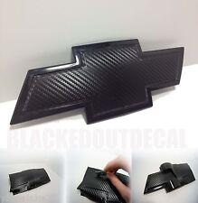 (2) Silverado Carbon Fiber Universal Chevy Bowtie Vinyl Sheets Emblem Overlay