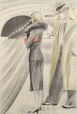 """Feodor Stepanovich """"Rojan"""" Rojankovsky Russian Erotica Handcolored Lithograph"""
