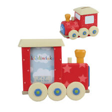 Kiddiwinks Train Photo Frame & Money Bank Gift Set NEW