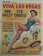 """""""VIVA LAS VEGAS (MEET ME IN LAS VEGAS)""""Affiche entoilée Roy ROWLAND,Cyd CHARISSE"""