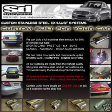 CUSTOM BUILT STAINLESS STEEL EXHAUST SYSTEMS >MOST CARS